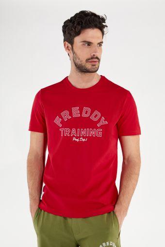 T-shirt léger avec imprimé FREDDY TRAINING en contours