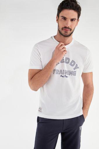 Lightweight t-shirt with an outline FREDDY TRAINING print