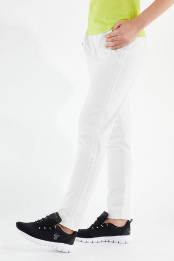 Pantaloni sportivi elasticizzati con fondo dritto