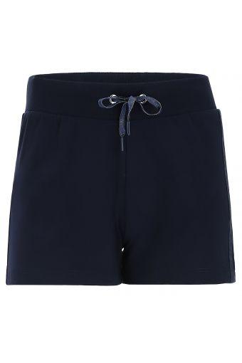 Shorts monocolore con coulisse e decorazioni in tono colore