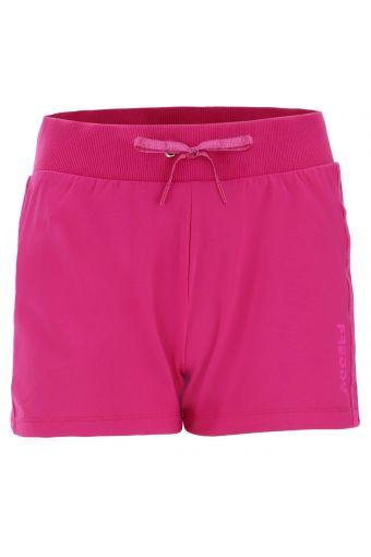 Plain colour drawstring-waist shorts with tone-on-tone details