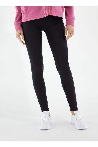 Leggings sportivi con decorazione a fondo gamba