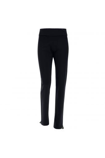 Pantalón con cintura de vuelta y bajo abierto ajustable