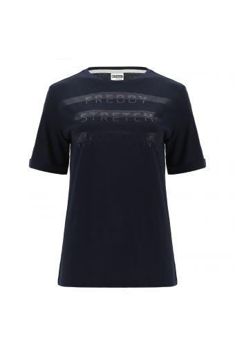T-Shirt mit normaler Passform STRETCH YOUR MIND