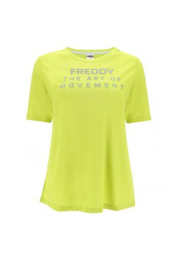 Komfort-T-Shirt THE ART OF MOVEMENT mit Aufdruck in Metallic-Farbe