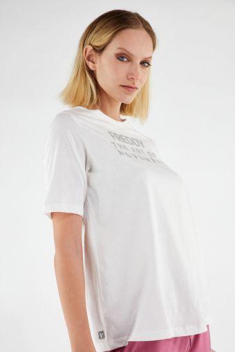 Camiseta cómoda THE ART OF MOVEMENT con estampado color metal