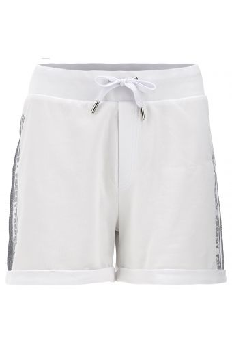 Lightweight shorts with a glitter print and sequin band