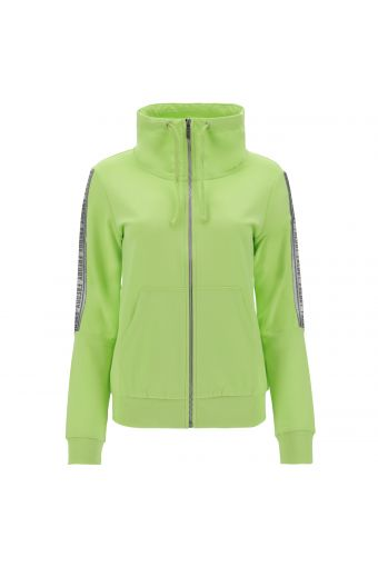 Lightweight sweatshirt with a roomy high neck and decorated sleeves