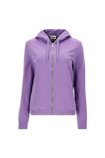 Hoodie with a sequin logo on the sleeve