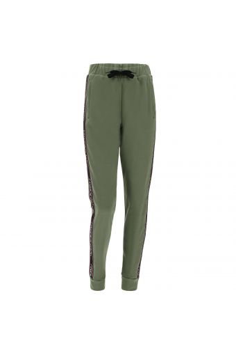 Pantalon fitness avec lacet ajustable et bandes élastiques côtelées aux poignets FREDDY MOV.