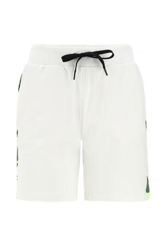 Fitness-Bermuda-Hose mit fluoreszierenden Camouflage-Seitenbändern