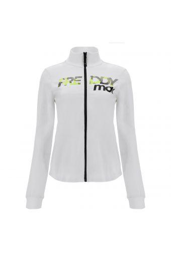 High-neck zip-front FREDDY MOV. athletic sweatshirt