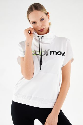 Fitness-Sweatshirt in Komfort-Passform FREDDY MOV mit kurzen Flügelärmeln