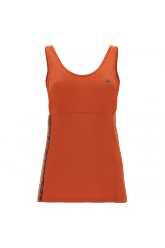 Yoga tank top with branded tape - 100% Made in Italy