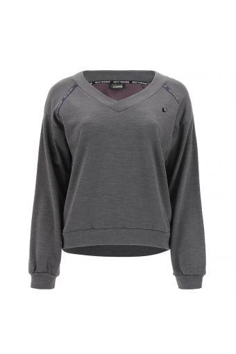 V-neck yoga shirt - 100% Made in Italy