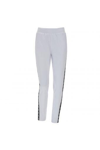 Pantaloni in felpa coated con bande laterali logate