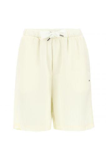 Wide-leg Bermuda shorts in plant-based fabric