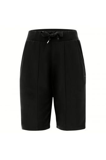 Modal fleece Bermuda shorts with a lateral glitter logo