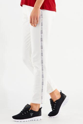 Pantaloni in felpa elasticizzata con logo laterale glitter