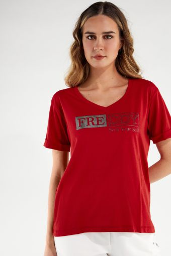 Regular-fit t-shirt with a SEEK YOUR SELF print