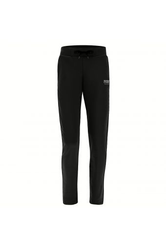 Stretch athletic trousers with a drawstring