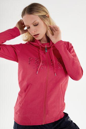 Sweatshirt FREDDY TRAINING mit hohem Ringkragen und Reißverschluss