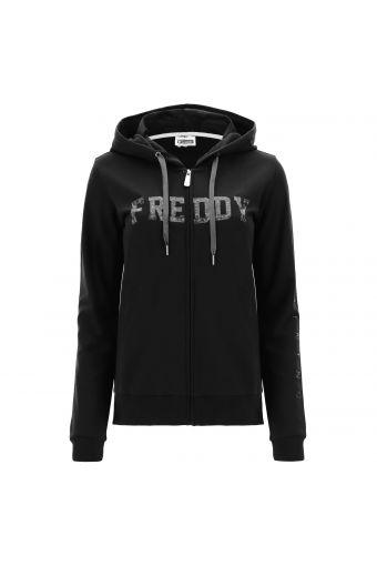 Sweatshirt FREDDY TRAINING mit Kapuze, Paisley-Muster und Camouflage-Aufdruck