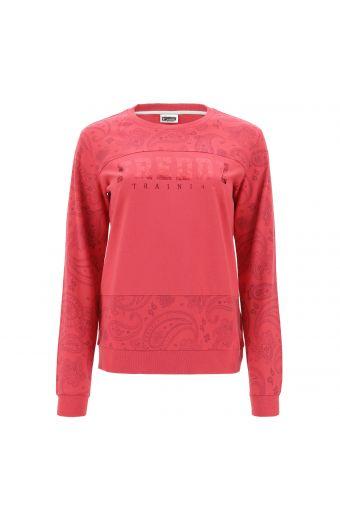 Lightweight paisley print sweatshirt with a FREDDY TRAINING print