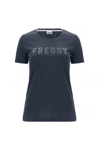 T-Shirt aus leichtem Jersey mit FREDDY TRAINING-Aufdruck