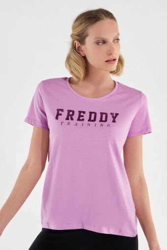 Camiseta en tejido de punto ligero con estampado FREDDY TRAINING