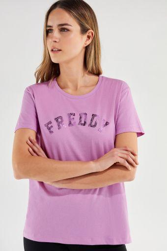 Camiseta cómoda FREDDY TRAINING con estampado cachemir