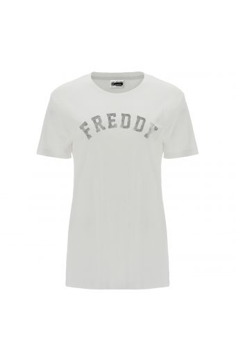 Comfort-fit FREDDY TRAINING t-shirt with a paisley print