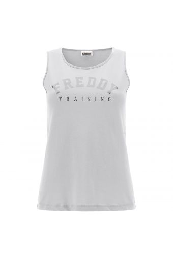 Lightweight jersey tank top with a FREDDY TRAINING print