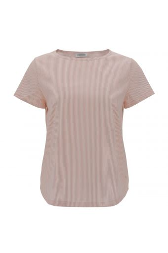 Pastel stripe stretch t-shirt