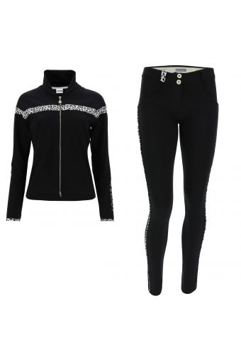 WR.UP®-IN track suit with an animal print inserts and shaping trousers
