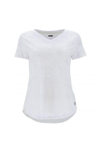 V-neck burnout jersey t-shirt