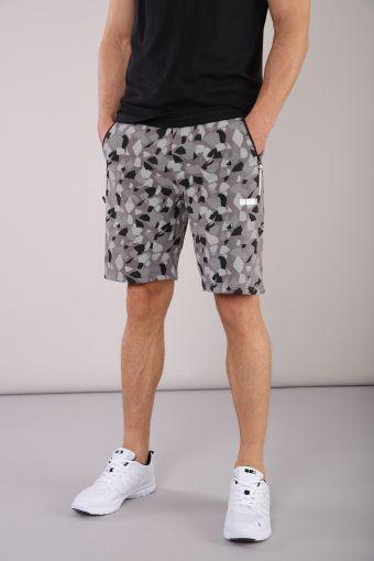 Men's geometric print Bermuda shorts