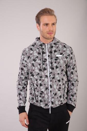 Men's geometric print hoodie