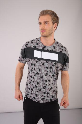 Men's geometric print short-sleeved t-shirt