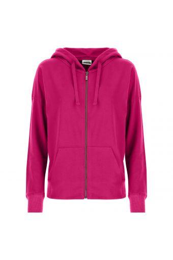 Zip hoodie with drawstring