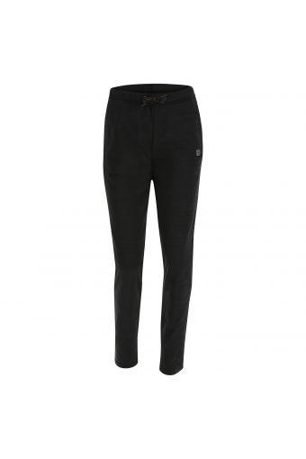 Melange performance fabric trousers