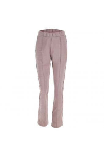 Melange comfort fit trousers with satin piping