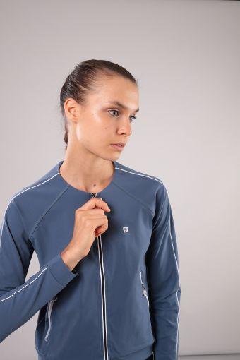 Sweat-shirt pour le yoga avec passepoil en contraste 100% Made In Italy