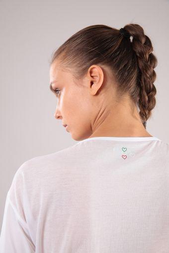 Tee-shirt pour le yoga doublé avec manches trois quarts 100% Made in Italy
