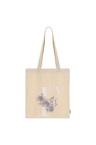 Floral print cotton canvas bag