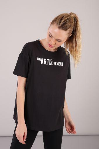 Camiseta de cuello redondo de mujer con estampado delantero