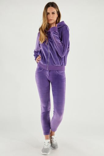WR.UP®-IN chenille track suit with a hoodie and sculpting trousers