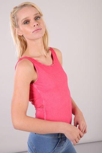 Stretch bodysuit with straps