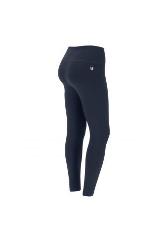 High-waisted ankle-length stretch cotton Superfit fitness leggings