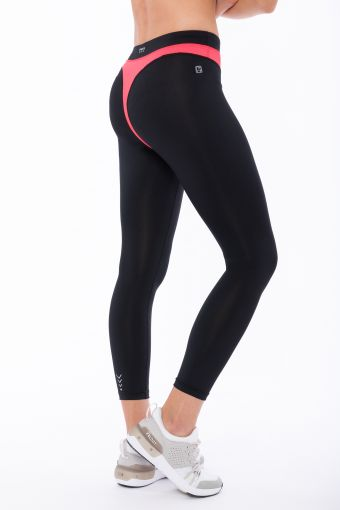 Leggings de fitness Superfit en D.I.W.O.® avec pièce superposée en contraste